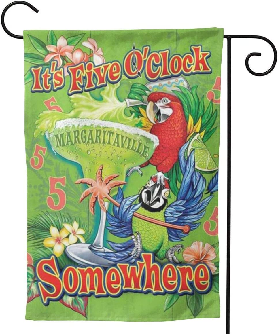 NOT Garden Flag Double Sided 12 X 18 Inches Polyester Seasonal Flags It's Five O'Clock Somewhere for Outdoor Home Yard Summer Decor Garden Flag Banner Decorative Double Sided Yard Flag