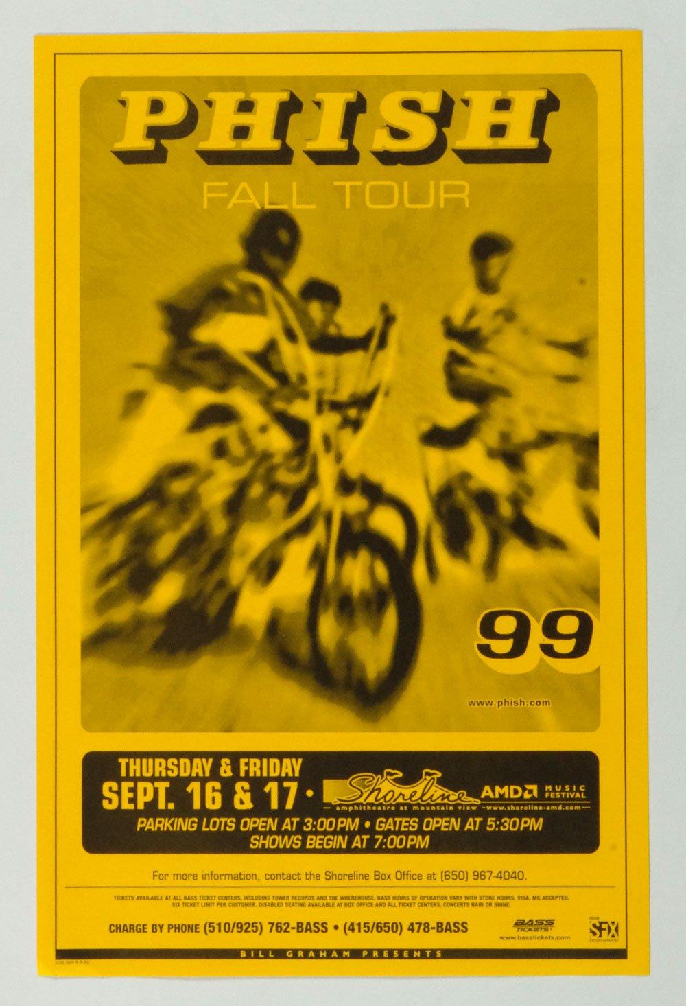Phish Poster 1999 Fall Tour Sep 16 Shoreline Amphitheatre