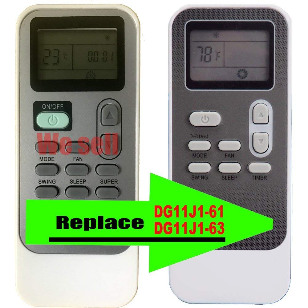 YING RAY Replacement for LG Portable Air Conditioner Remote Control for Model LP1417SHR LP1417GSR LP1217GSR LP1417SHR