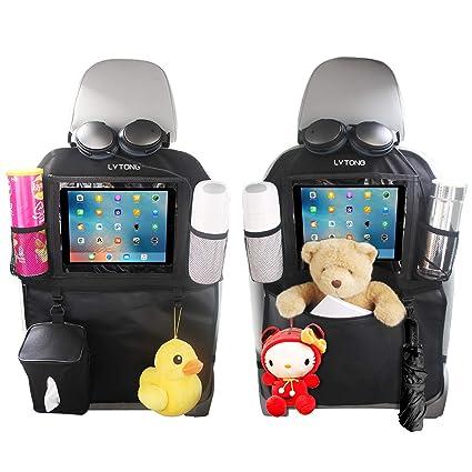 Back Car Seat Organizer Tidy with Tablet holder Travel iPad Galaxy Storage Bag