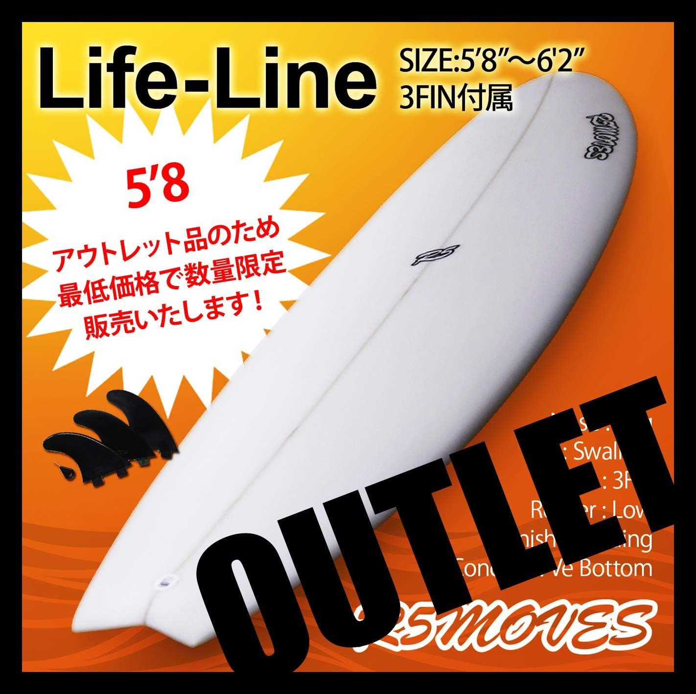 アウトレット サーフボード ショートボード R5MOVES Life-Line 5'8