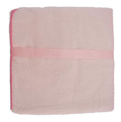 100 x 100 cm Baby Kapuzenbadetuch und Waschhandschuh Set Teddy Bieco 38000120 rosa ca