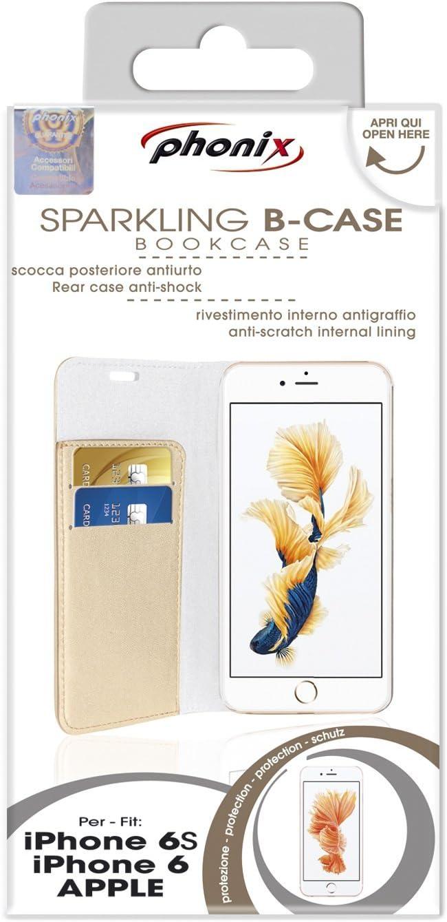 PHONIX ITA - Custodia a libro in ecopelle per apple iPhone 5C Rosa