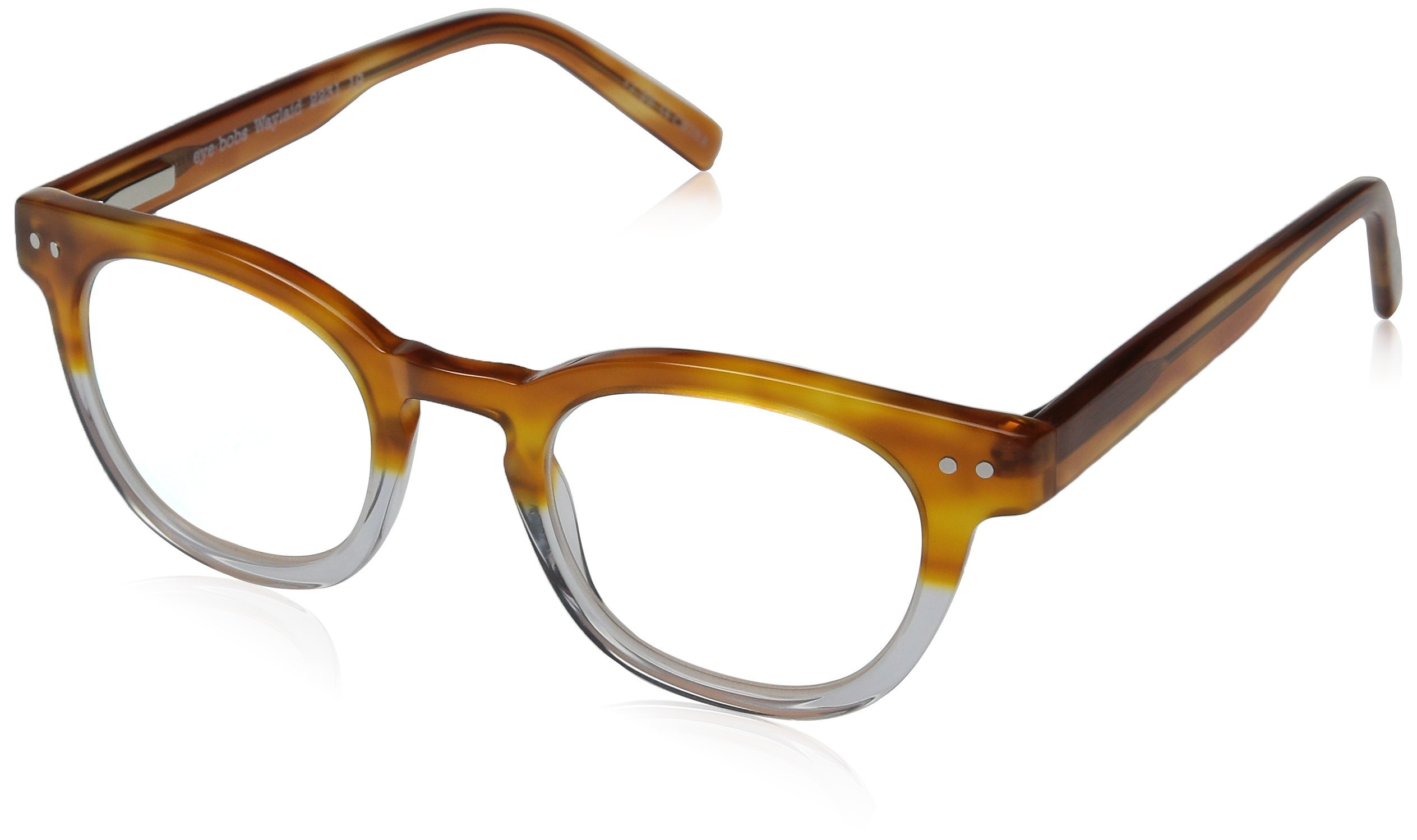 Eyebobs Waylaid 2231-19 Classic Reading Glasses,Amber & Crystal,46 mm by EyeBobs