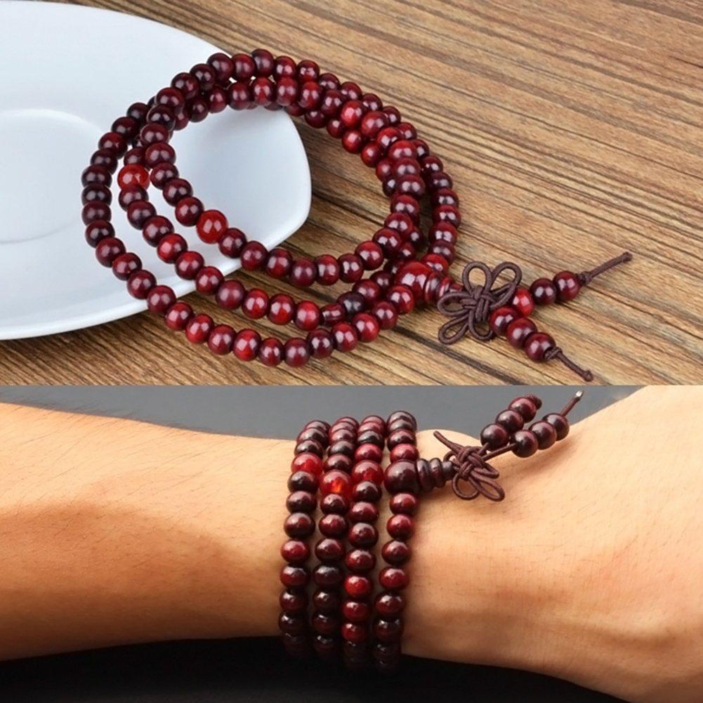 Sandelholz Buddhistisch Buddha Meditation 6mm 108 Gebet Perlenarmband//Halskette