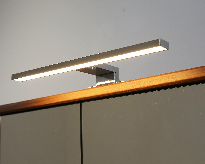 Spiegelleuchte Lichtfarbe 3500K warm wei/ß Chrom Schrankleuchte 230V Badleuchte Art LED Aufbauleuchte 2030
