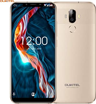 "OUKITEL U18 4G LTE Smartphone Libre,5.85"" 21:9 HD+ Pantalla, Cámara de 16MP+5MP+13MP,Octa-Core 4GB RAM+64GB ROM,Android 7.0 Dual SIM Teléfono móvil,Batería de 4000mAh,Face ID,GPS (Oro): Amazon.es: Electrónica"