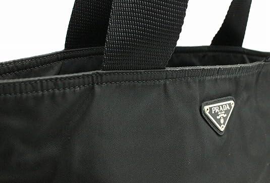 d1e43e0723b2 Amazon   [プラダ] PRADA ナイロン トートバッグ ショルダートート レザー 黒 ブラック B5880   トートバッグ