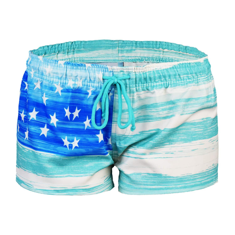 bluee VbrandeD Women's American Flag Inspired Board Shorts (Assorted Designs)
