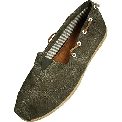 FARASION - Ladies Canvas Slip-On Loafer, | Slippers