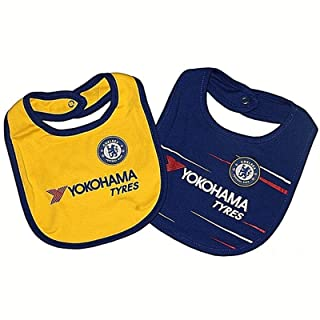 Official Chelsea Baby 2 Pack Bibs Club Licensed