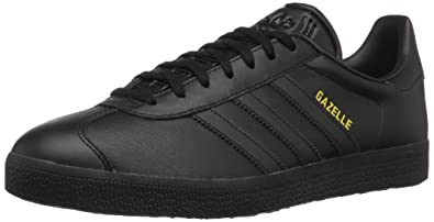 adidas Originals Men\u0027s Gazelle Lace-up Sneaker,Black/Black/Gold Metallic,