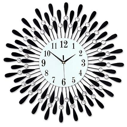 Amazon.com: PQPQPQ Wall Clock The Clock The Clock Decorative Wall Lounge Custom Watches Great Silence Creative Modern European Wall Clock Quartz Clock ...