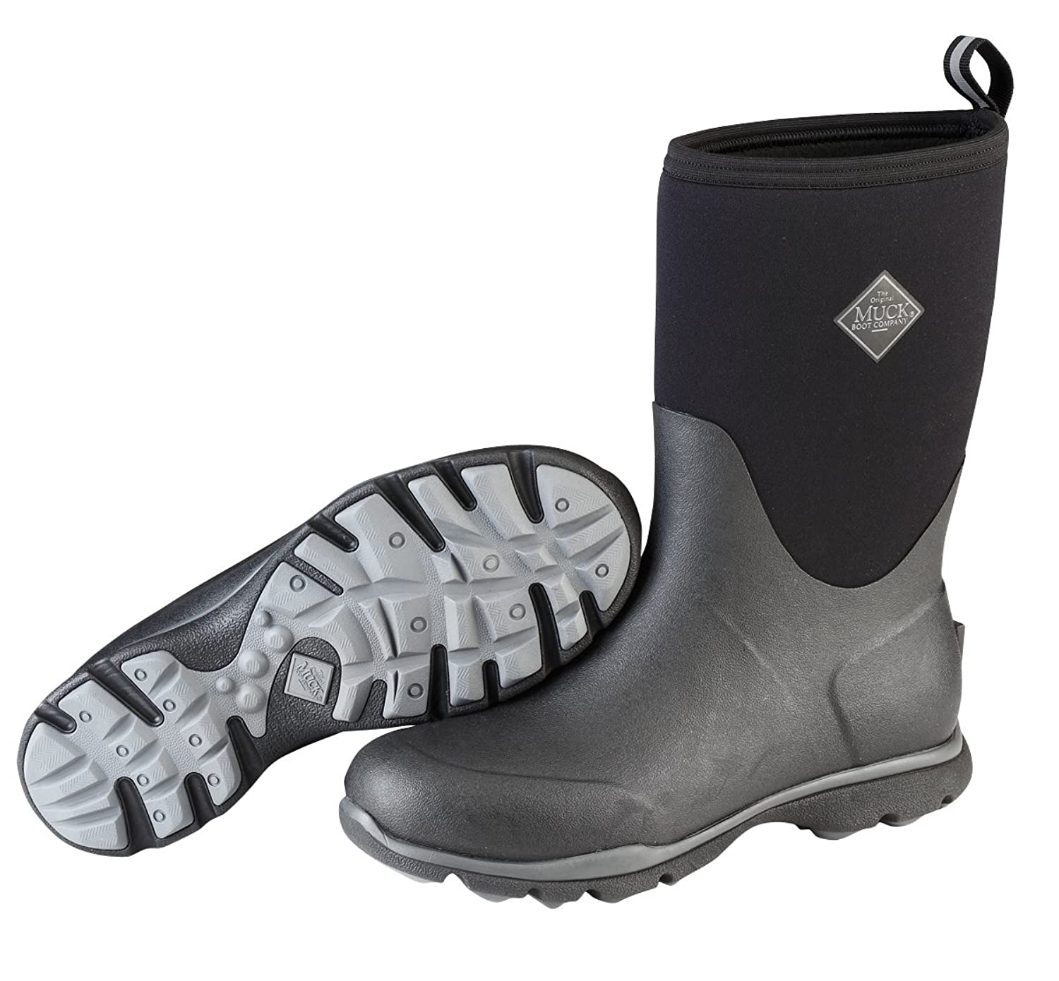Muck Boot Men s Arctic Excursion Mid Snow Black Gray 9 M