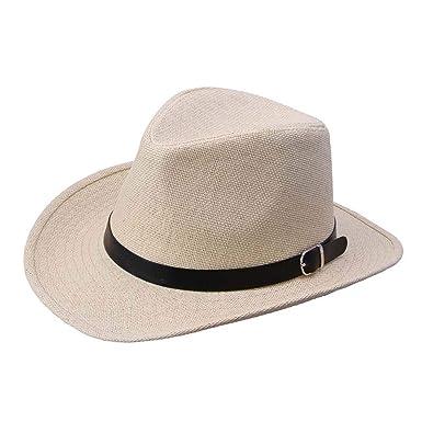 03e74d77686a7 Amazon.com: 2019 Summer Tops Sport Caps Men Straw Cowboy Women's Sun ...