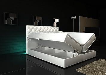 Boxspringbett Weiß Panama Lift 160x200 inkl. 2 Bettkästen Hotelbett ...