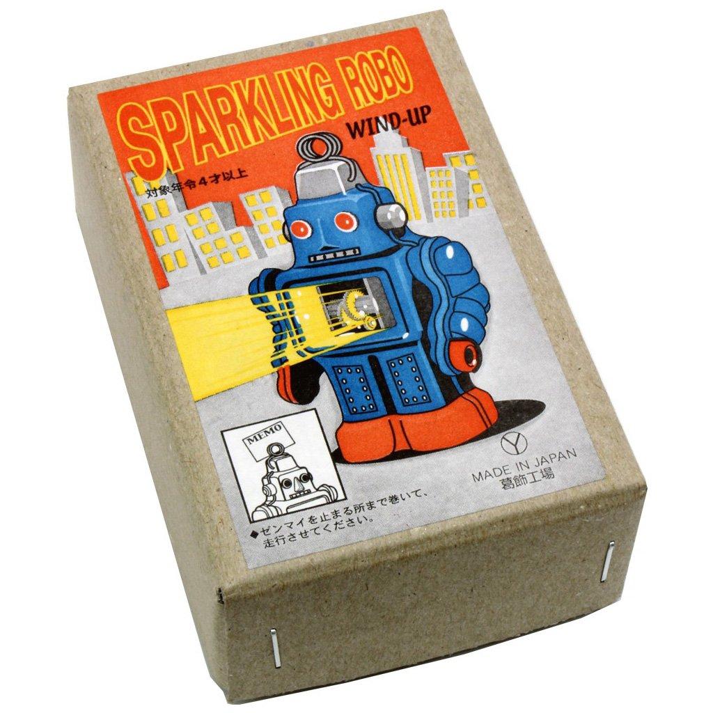 Burekiya Vintage Retro Tin Wind-up Toy - Two Sparkling Robot Set by Burekiya (Image #2)