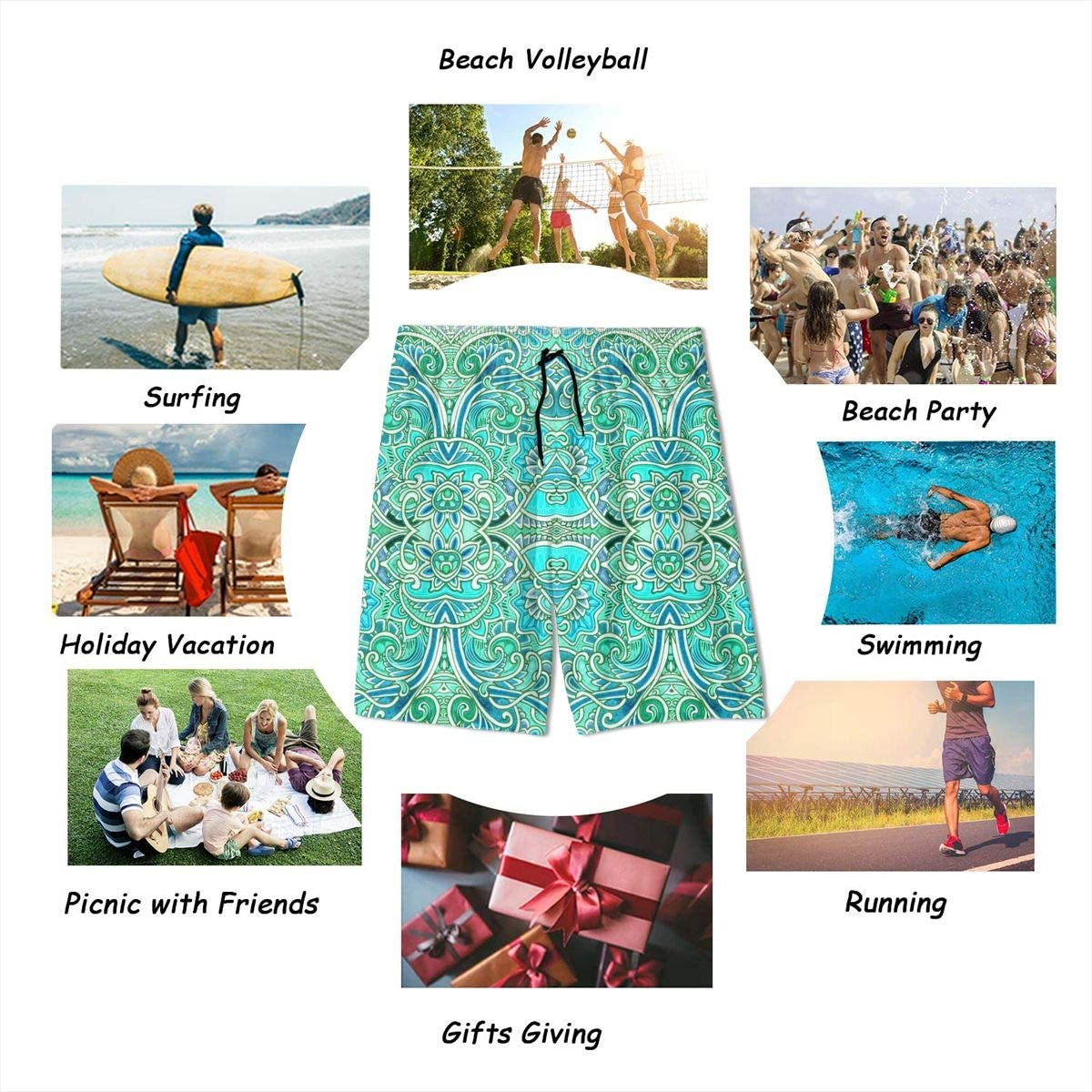 Homemen Boys Trunks Swimwear,Paisley Squirm Number 2682433/_2018