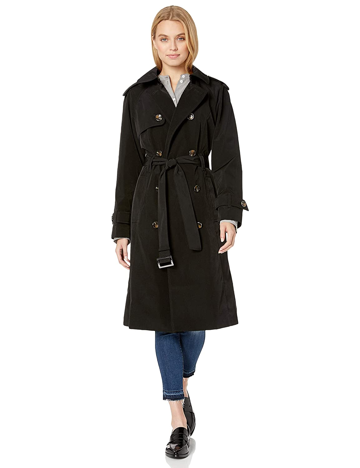 1940s Coats & Jackets Fashion History London Fog Womens Midi-Length Trench Coat $101.15 AT vintagedancer.com