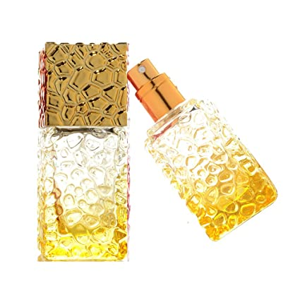 a1a8a13fbbe JJKMALL- 25ml Colorful Glass Fine Mist Spray Scent Aftershave Perfume  Bottle Empty Atomizer Bottle Makeup