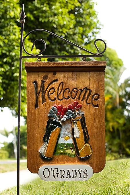 Amazon com : Piazza Pisano Golfers Welcome Personalized Yard