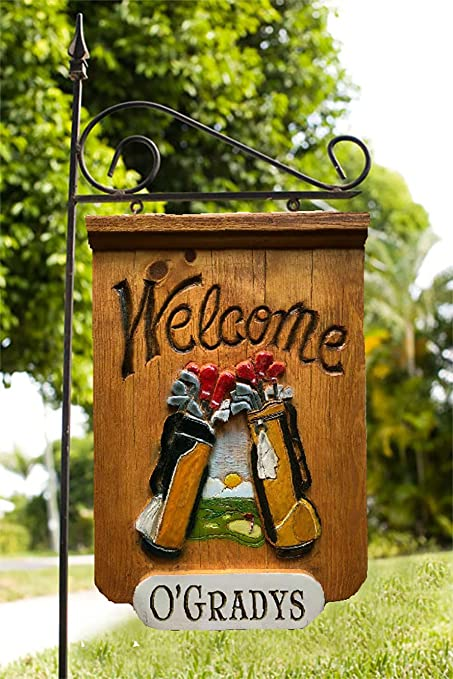 Amazon Com Piazza Pisano Golfers Welcome Personalized Yard Sign