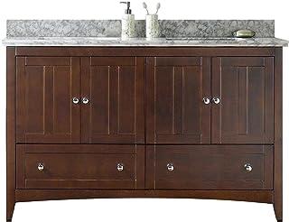American Imaginations AI-999-17697 Modern Plywood-Veneer Vanity Set in Walnut