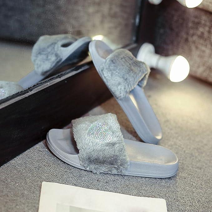 Sandalias Mujer Chancleta Verano Crochet Bohemia Estilo Antideslizante Moda Cómodos Casual Zapatos Chanclas Playa Zapatillas de Suela Gruesa YiYLunneo: ...