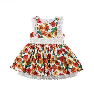 02da7778c5b68 Amazon.com: West Sweety 1-6T Baby Girls Toddler Girls Ruffle Sleeve ...