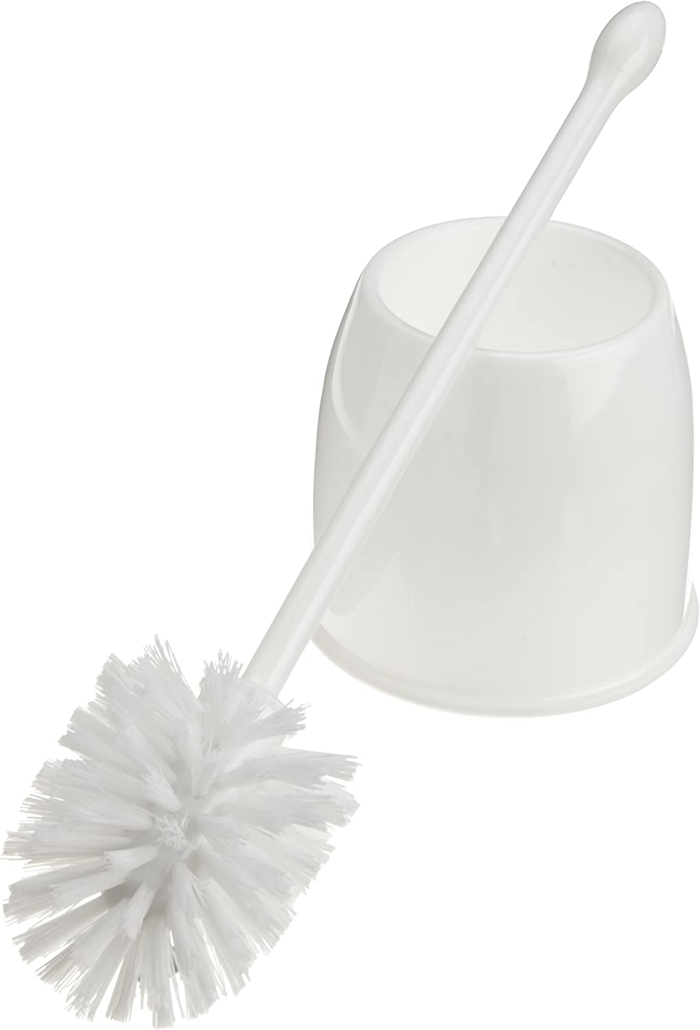 Casabella Toilet Bowl Brush with Holder Set, White: Home & Kitchen