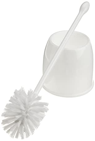 casabella toilet bowl brush with holder set white