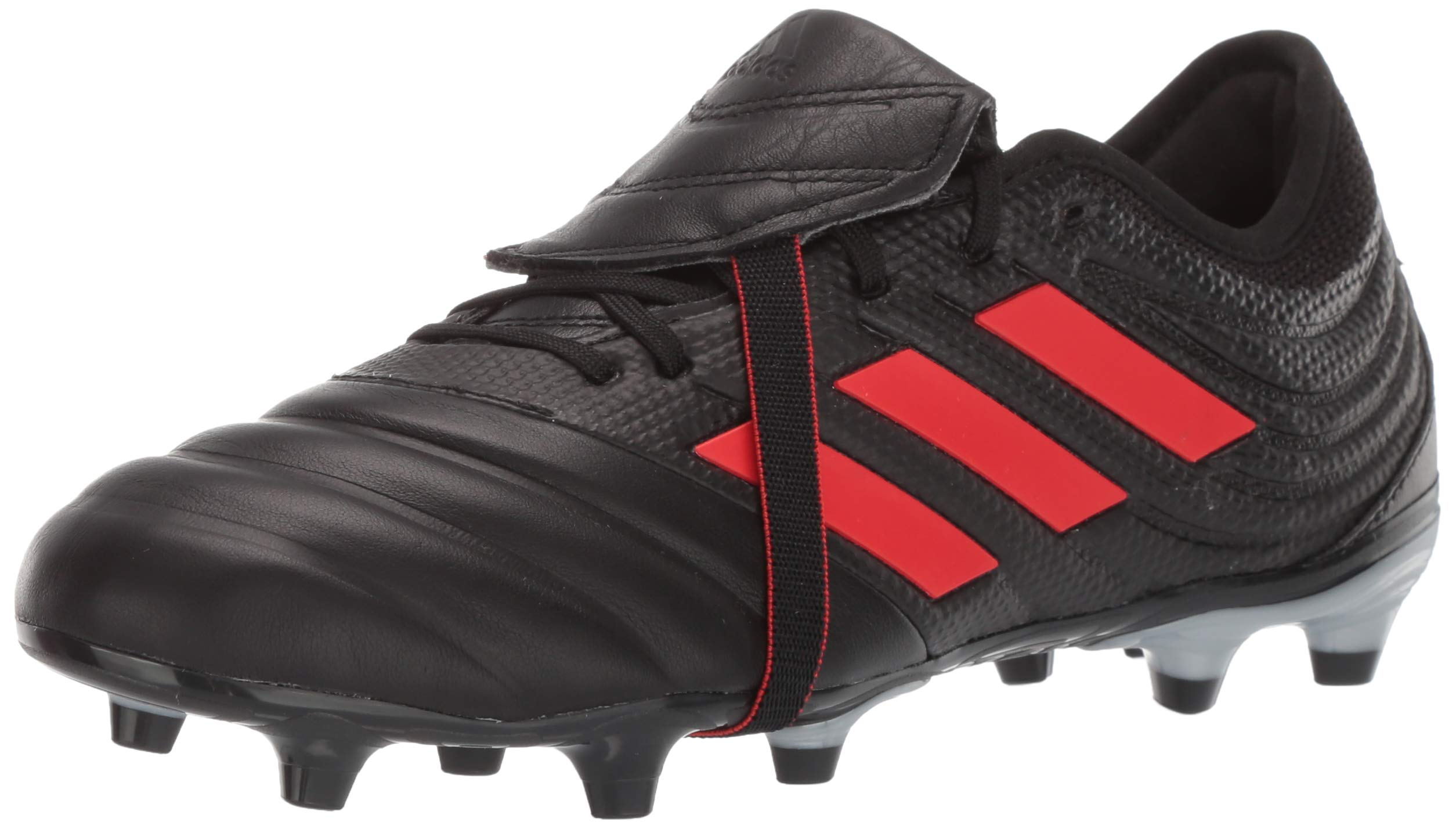 adidas Men's Copa Gloro 19.2 Firm Ground Soccer Shoe, Black/hi-res red/Silver Metallic, 7 M US
