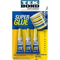 Tekbond Colorless Fast Dry Super Glue (Three 1-Gram Tubes)