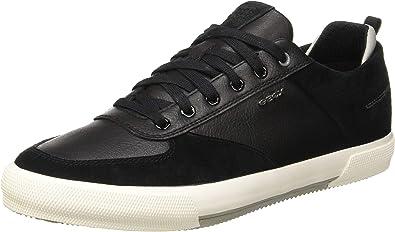 Estación hasta ahora Transeúnte  Amazon.com | Geox Men's Low-Top Sneakers, Black Black C9999, 8 US | Fashion  Sneakers