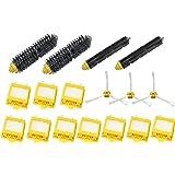 SHP-ZONE 3-Armed Side Brush & Hepa Filters & Bristle Brush & Flexible Beater Brush Pack Kit for iRobot Roomba 700 Series 760 770 780 790 Vacuum Cleaning Robots