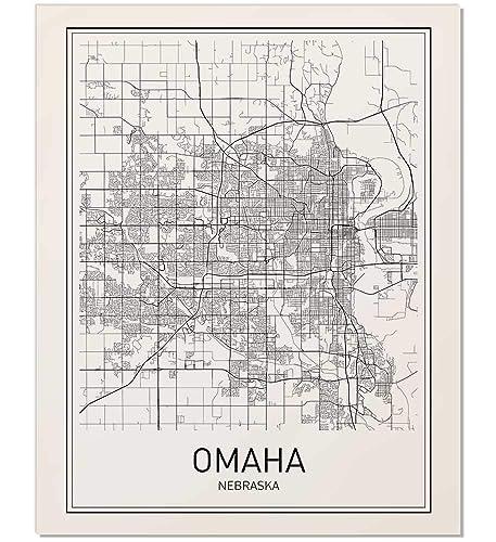 Amazon Com Omaha Poster Map Of Omaha Omaha Map City Map Posters