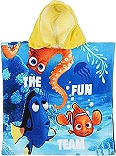 Disney Pixar Findet Nemo & Dori Velour Kapuzen Poncho 'Fun Team' Blau