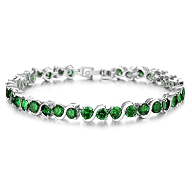 OPK Jewellry Round 0.58ct. Classic & Graceful Cubic Zirconia CZ Tennis Bracelet For Women 7.2 inch Length sfspyK