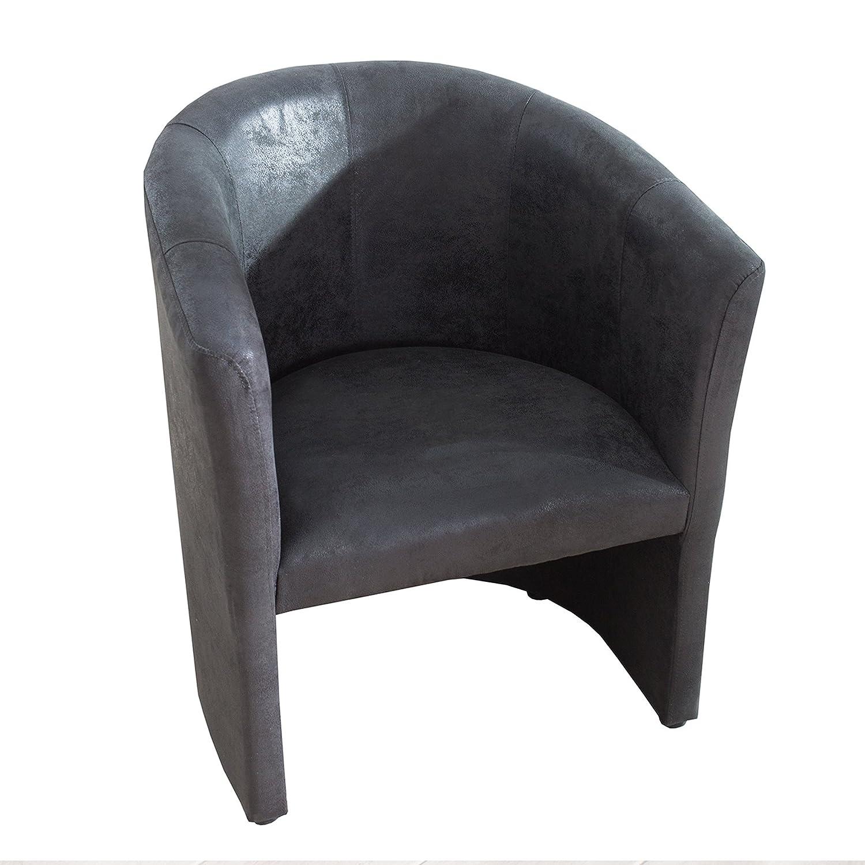 Invicta Interior Stylischer Cocktailsessel Art Deco Vintage grau Sessel Polstersessel Wohnzimmersessel Wohnzimmer Clubsessel