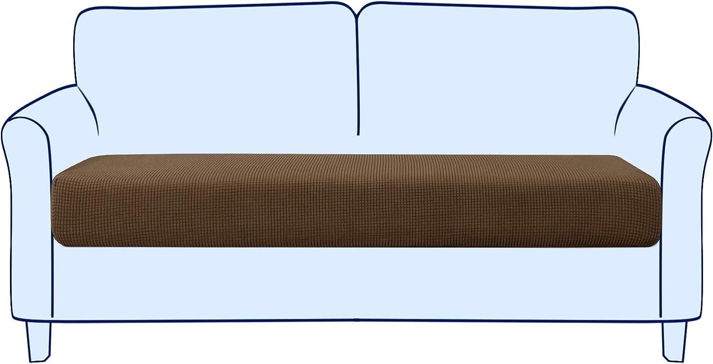 subrtex Couch Sofa Cushion Slipcover Seat Slip Covers Loveseat Stretch Durable Chair Sofa Protector Cushion Spandex Elastic Furniture Protector for Settee Sofa Seat in LivingRoom (Medium,Coffee)