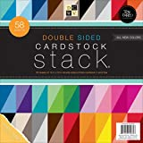 """Diecuts With A View PS-005-00259 Double Sided Cardstock Stack, Textured, 58 Sheet, 12 x 12"""""""