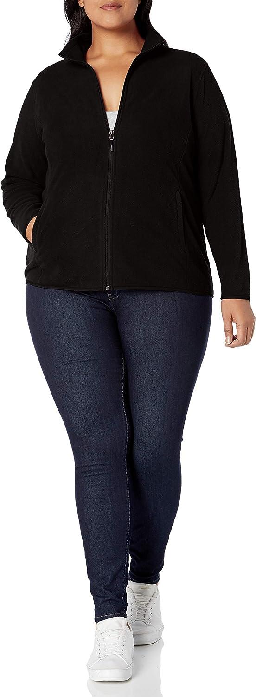 Essentials Plus Size Full-Zip Polar Fleece Jacket Mujer