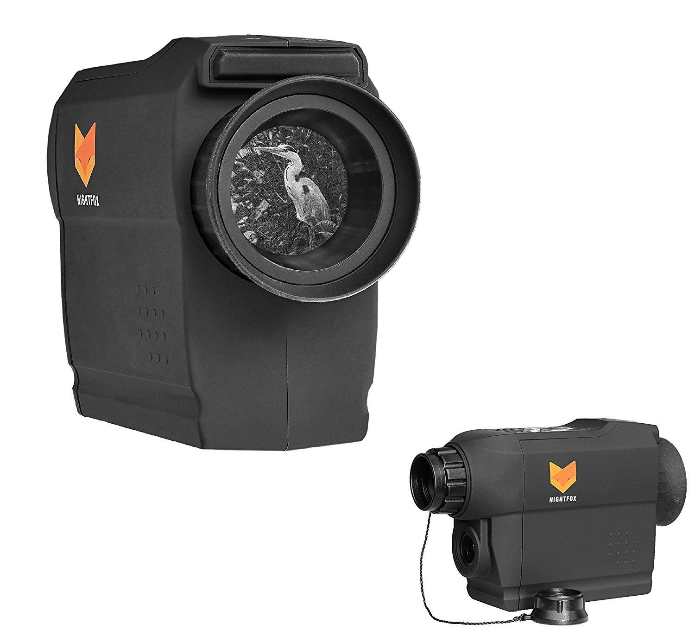 Nightfox 81R IR Night Vision Monocular - 165yd Range, Records Footage, Zoom 7x30