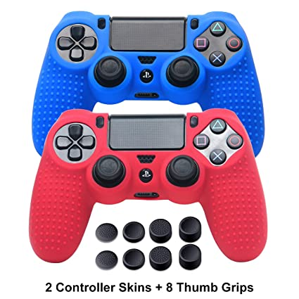 PS4 Controller Covers - PS4 Silicone Skins for DualShock 4 - PS4  Accessories Anti-Slip Cover Case for Sony Playstation 4, Slim, Pro - 2 Pack  PS4