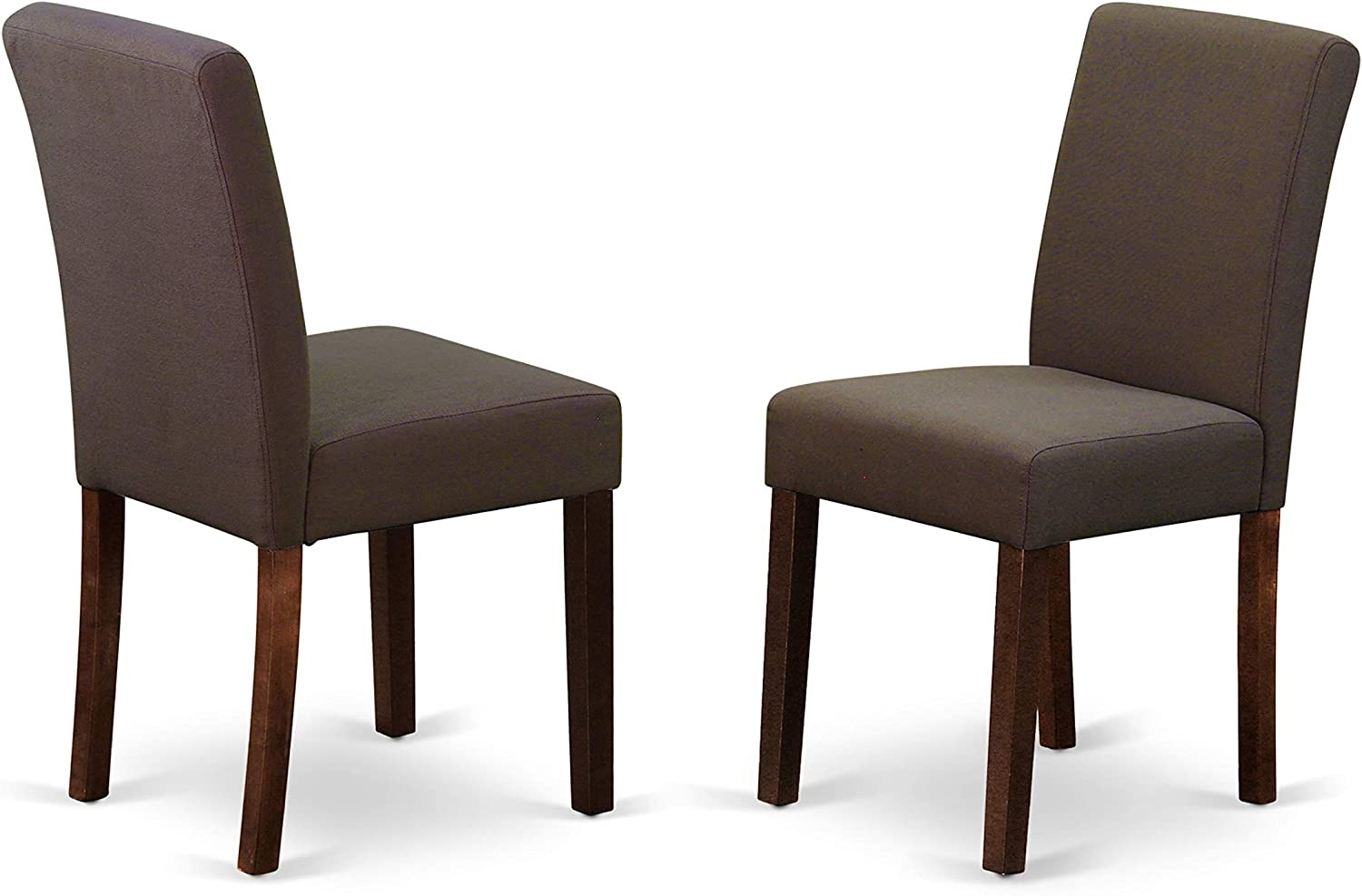 East West Furniture Abp3B18 Abbott Parson Chair With Mahogany Finish Leg And Linen Fabric-Coffee Color