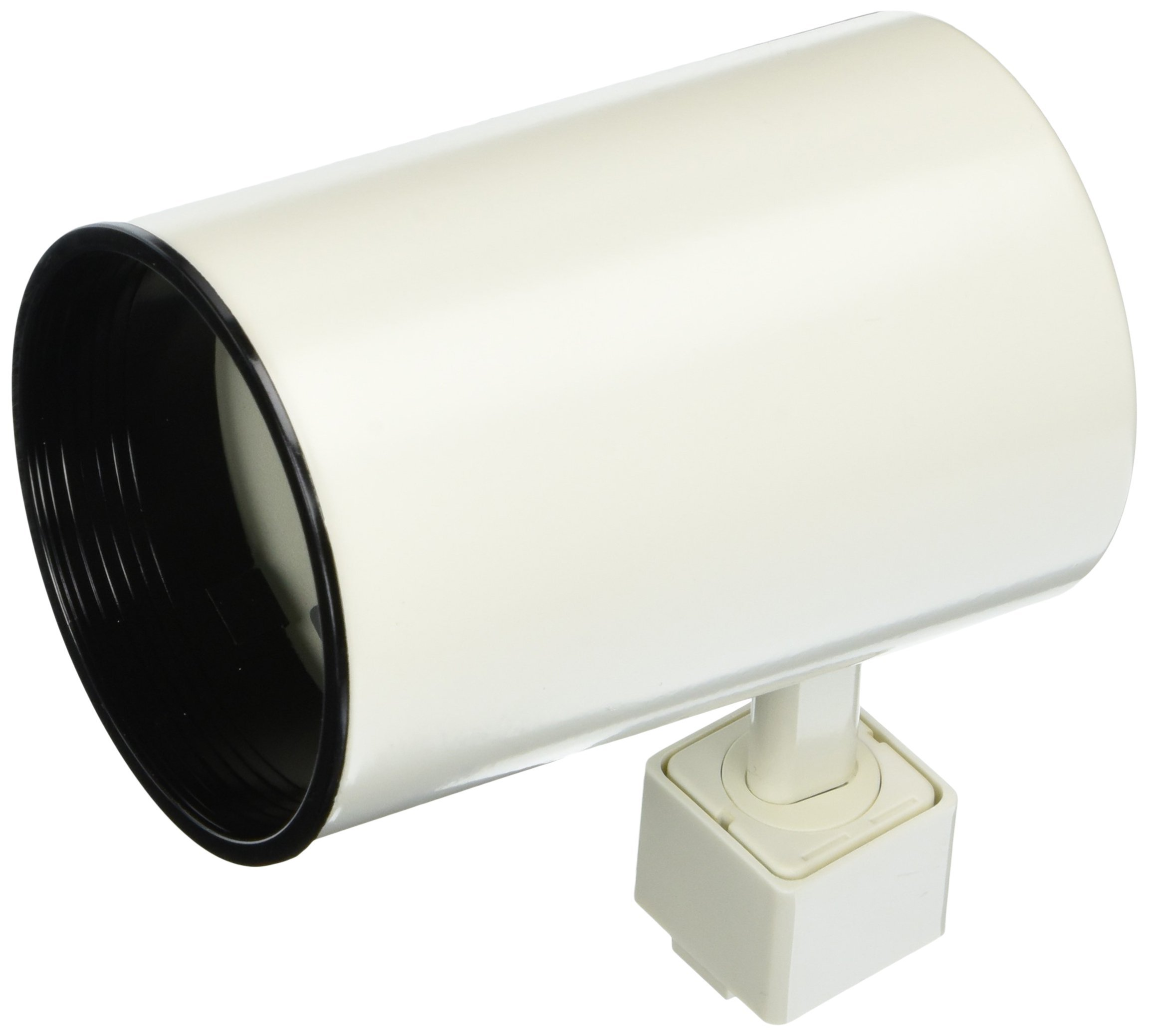 PLC Lighting TR305S WH Track Lighting 1 Light Cylinder Collection, White Finish