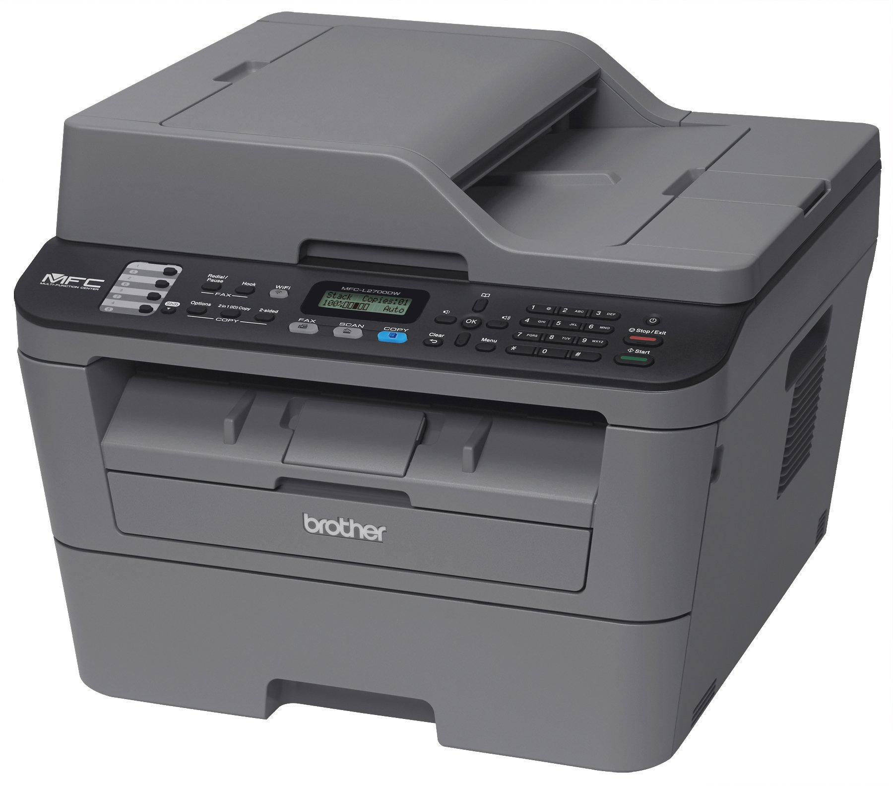 Brother MFCL2700DW All-In One Laser Printer with Wireless Networking and Duplex Printing, Amazon Dash Replenishment Enabled by Brother (Image #2)