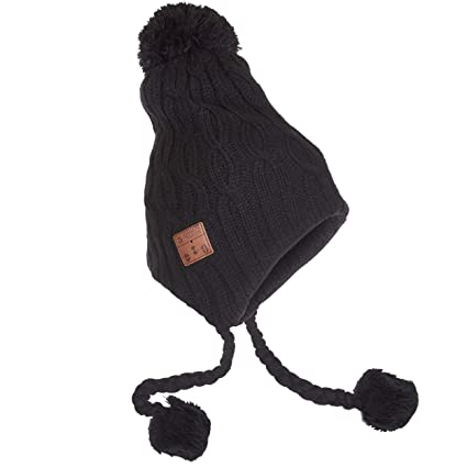 896cb3eb2d7 Amazon.com  Accessory Innovations Bluetooth Wireless Knit Beanie with  Built-in Stereo Speakers and Microphone (Black Laplander)  Home   Kitchen