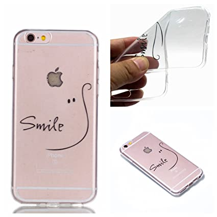 Funda iPhone 6 Plus carcasa iPhone 6S Plus Case ,TPU Patrón creativo Funda Carcasa Case Bumper [Shock-Absorción] [Anti-Arañazos] Transparente Slim ...