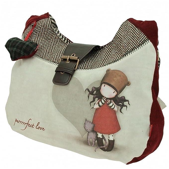 Amazon.com: Santoro London Gorjuss Slouchy Bag Purrrrrfect Love Perfect Handbag Crossbody: Clothing